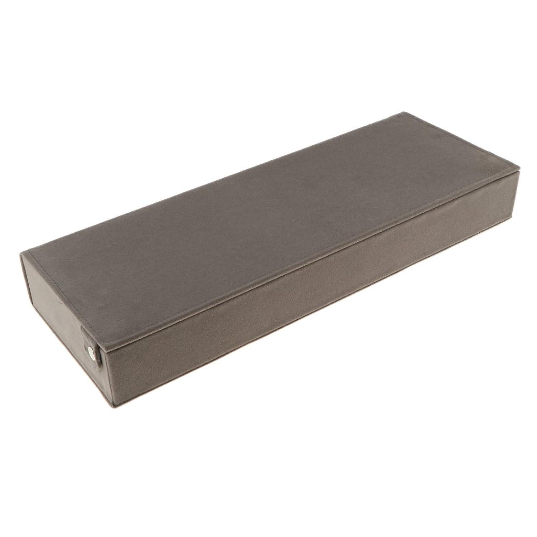 Sharplace Boîte à Lunettes pour Rangement 8 Paires de Lunettes en Microfibre - Présentoir à Lunettes de Soleil - Coffret Affichage de Montre - Gris, 48.5x18x6cm