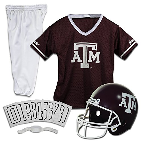 Franklin Sports NCAA Texas A&M Aggies Deluxe Youth Team Uniform Set, Small