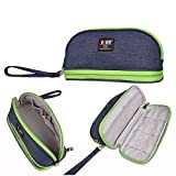 BUBM Men & Women Small Toiletry Handbag Cosmetic Case Capacity Portable Makeup Storage Bags Pouch Travel Kit Organizer (Blue)