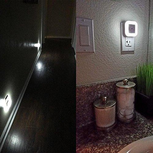 Uigos LED Night Light Lamp with Smart Sensor Dusk to Dawn Sensor, Daylight White, 0.5W Plug-in, 6 Piece