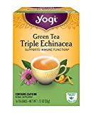 Yogi Tea, Triple Echinacea Green Tea, 16 Count (Pack of 6), Packaging May Vary