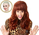 ALLAURA Long Hair Wig – Peggy Bundy Wig for 80's Costumes – Red Wigs for Women