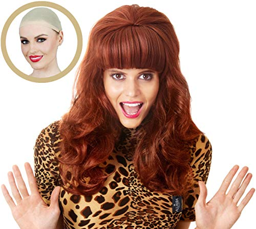 Peggy Bundy Wig for 80's Costumes Married Mob Wife Big Hair Red Wigs for Women ()