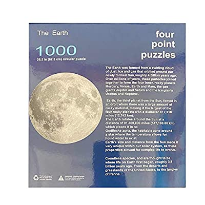 JIAA Circular 1000-Piece Jigsaw Puzzle Toys, Kids Educational Toys, Moon/Earth/Australia/Europe Jigsaw for Adult Kids: Home & Kitchen