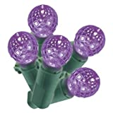 Philips 60 LED Purple Faceted Sphere String Lights