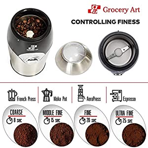 Coffee Grinder Electric – Simple Touch Small & Compact Blade Mill – Automatic Grinding Tool Machine Whole Coffee Beans, Spices, Herbs & Nuts