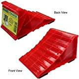 Electriduct Red Plastic Wheel Chocks - Pair