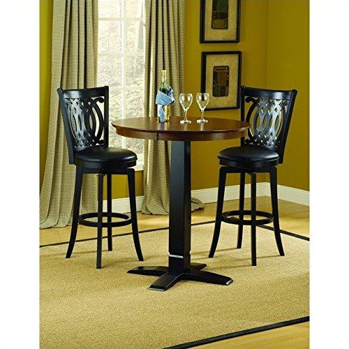 Hillsdale Dynamic Designs 3 Piece Pub Table Set with Van Druas Stools Dynamic Designs Brown Cherry