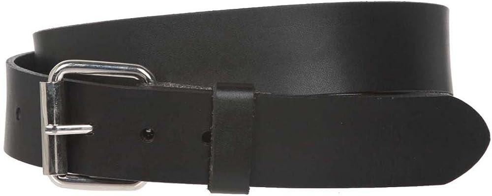Big /& Tall Oversize Snap on 1 1//2 Standard Plain Full Grain Leather Belt