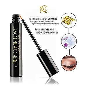 Eyelash Growth Serum, Eyebrow Growth Treatment Enhancer - Advanced Formula Pentapeptide 17 - Boosts Regrowth, Grows Long Fuller Thicker Lashes Brows - Prevents Breakage Fall Out - FDA Approved (3ml)