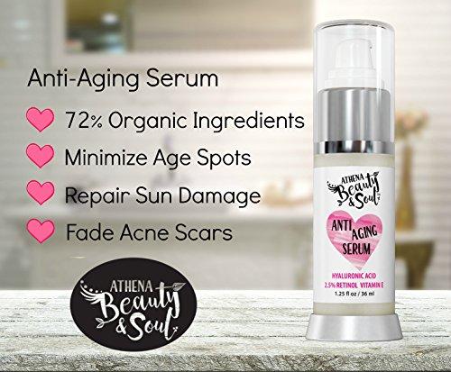 Face Wash & Hyaluronic Acid Serum With 2.5% Retinol, Skin Repair & Anti Aging Set - A Morning & Nighttime Anti-Oxidant Face Wash & Pro Hyaluronic Acid Face & Eye Serum Combo Kit