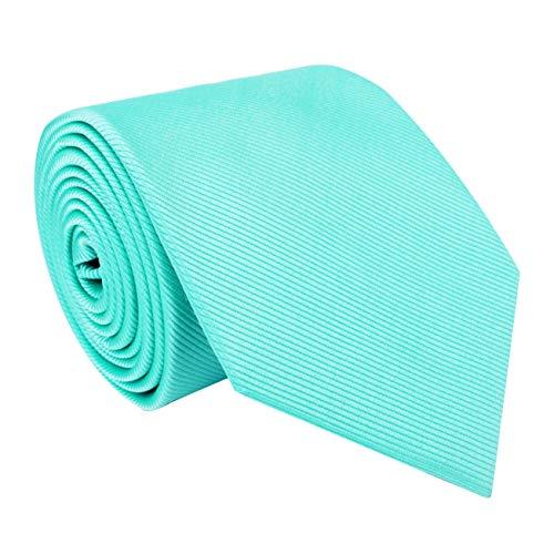 Twenty Dollar Tie Men's Solid Necktie Pocket Square Cuff-links Set (Mint) (Cufflinks Mint)