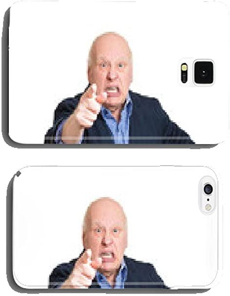 The Blame Game Upset Angry Old Man Accusing Someone Phone Cover
