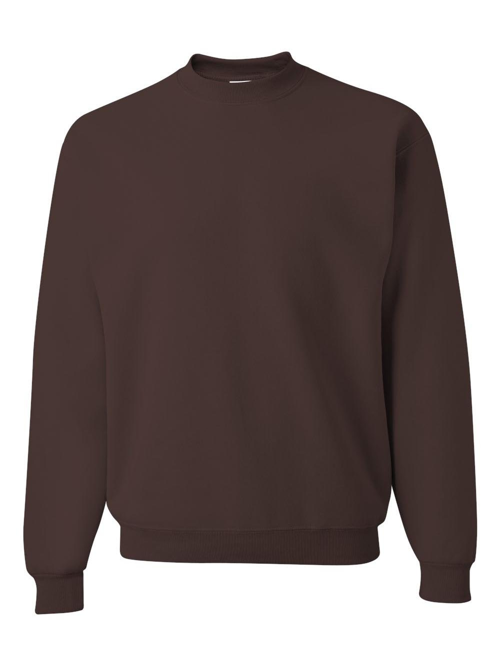Jerzees Adult Mid-Weight Crewneck Sweatshirt, Chocolate, Medium