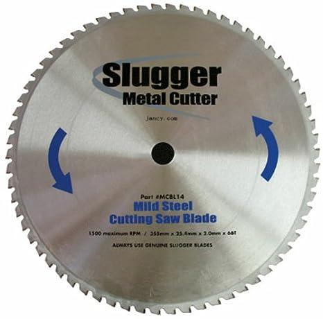 "Jancy Slugger MCBL14 Mild Steel Cutting Saw Blade, 14"" Diameter, 66 Teeth"