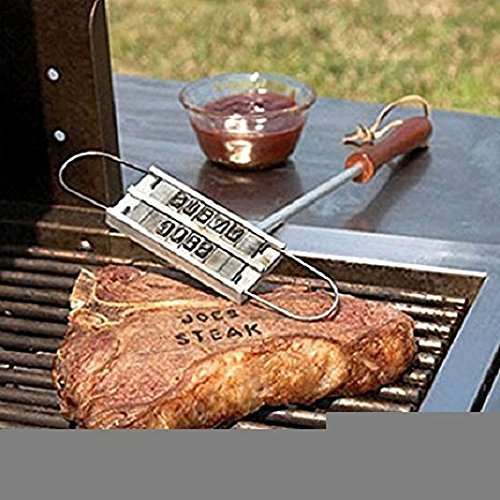 Maylai Branding Iron-BBQ Custom Branding Irons with Changeable Letters Steak Names Tool Personalized Barbecue Grilling Set
