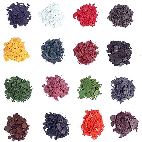 HXDZFX Candle Wax Dye - Dye Chips for Making Candles - 16 Dye Colors - A Great Choice of Colors - 0.18oz Each Color - DIY CandleDIY (16 Colors)