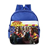 XJBD Custom Superb American Ultra Boys And Girls School Backpack For 1-6 Years Old RoyalBlue