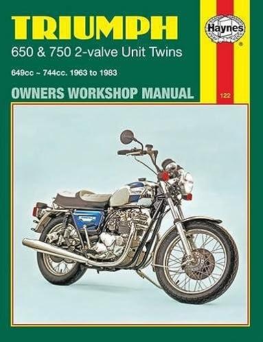 triumph 2 valve unit twins 1963 83 haynes repair manuals haynes rh amazon com 1977 Triumph Bonneville 1977 Triumph Bonneville