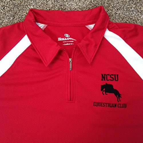 NC State Wolfpack Equestrian Club Red Ladies Medium Polo Shirt - North Carolina