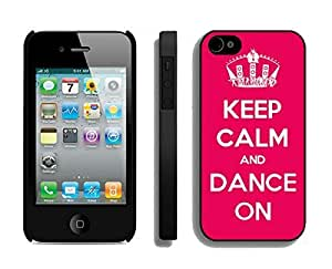 Personalized Case For Ipod Touch 5 Cover Durable Soft Silicone PC Keep Calm And Dance Red Cell Phone Black Cover for Ipod Touch 5