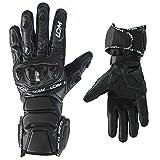 LDM Street-R Motorcycle Motorbike Summer Race Leather Gloves Black (M (19.5-21 cm))