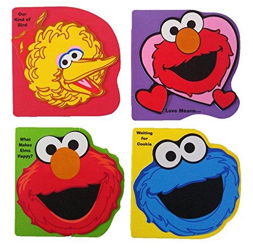 Set of 4 Foam Sesame Street Pop Up Books Elmo - Big Bird - Cookie Monster
