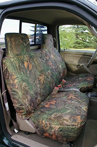 Durafit Seat Covers T777-MP V - 1995-2004 Toyota Tacoma Regular Cab Bench with Molded Headrests Seat Covers, Mixed Pine Camo Velor