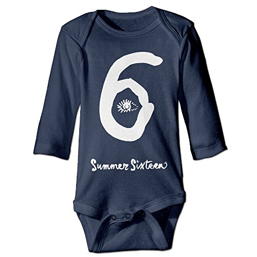 HYRONE View 6 Logo Baby Bodysuit Long Sleeve Climbing Clothes Size 18 Months Navy ()
