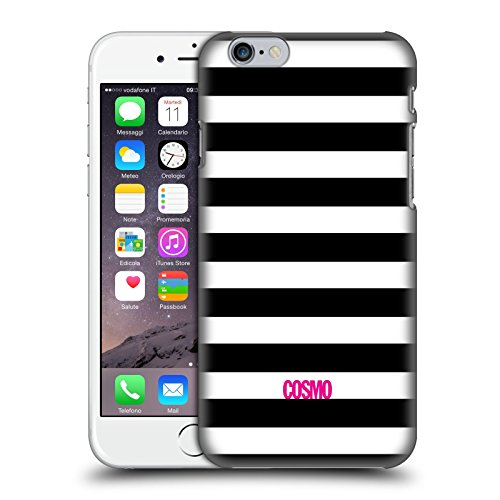 Official Cosmopolitan Black Stripes Collection Hard Back Case for Apple iPhone 6 / 6s