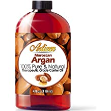 Moroccan Argan Oil - 4 Ounce Bottle (100% PURE & NATURAL) Suitable for your Hair, Face, Skin, Nails, & More - Perfect Additive to Shampoo, Lotions, and Soaps