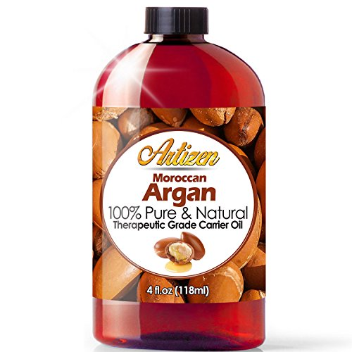 Buffer Additive - Moroccan Argan Oil - 4 Ounce Bottle (100% PURE & NATURAL) Suitable for your Hair, Face, Skin, Nails, & More - Perfect Additive to Shampoo, Lotions, and Soaps