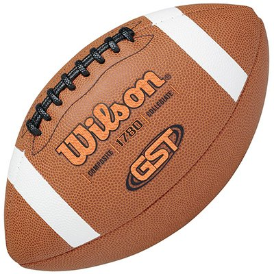 Wilson GST Composite Game Football (Official (Composite Rubber Football)