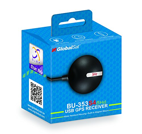 (GlobalSat BU-353-S4-5Hz USB GPS Receiver (Black))