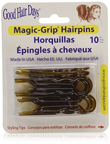Magic Grip Hair Pins Set of 10 by Good Hair Days Color: Shell 409000