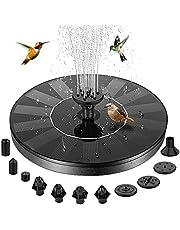 Fuente de baño solar para pájaros, BHY, fuente solar con 10 boquillas y 4 fijadores, bomba de agua solar flotante para jardín, estanque, piscina, al aire libre