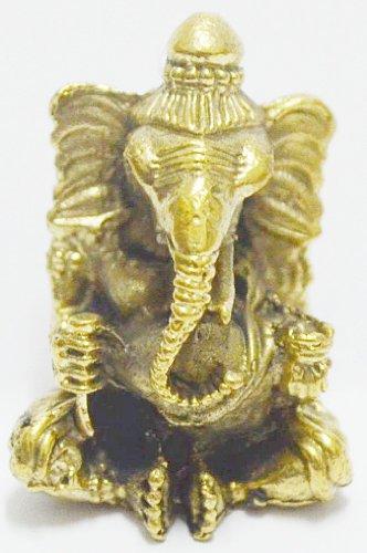 Thailand Only Lord Ganesh Ganesha Elephant God Hindu Thai Mini Amulet Success Win All Obstacle