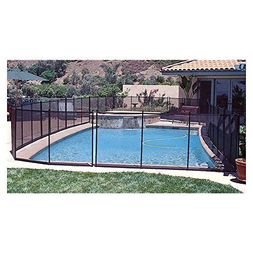Ground Gate Pool Above - GLI 30-0410-BLK 4' x 10' IG Safety Removable Fence 30-0410-BLK