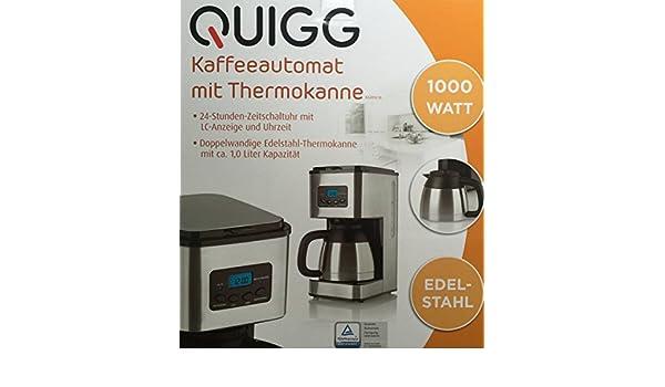 Quigg Cafetera con jarra térmica: Amazon.es: Hogar