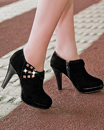 Amazon.com   Maybest Women Vintage Bowknot Pump Platform Low Top High Heel Ankle Boots Party Bridal Shoes   Ankle & Bootie