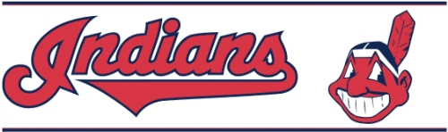 York Wallcoverings ZB3385BD Cleveland Indians Prepasted Border, Bright Red/Deep Navy