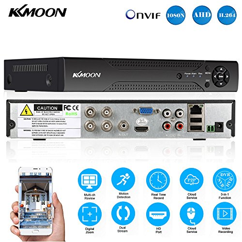 KKmoon 4 Channel 1280*720P CCTV Network DVR H.264 HDMI Home Security System Alarm Email by KKmoon