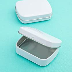 White Metal Rectangular Mint Tins , 200