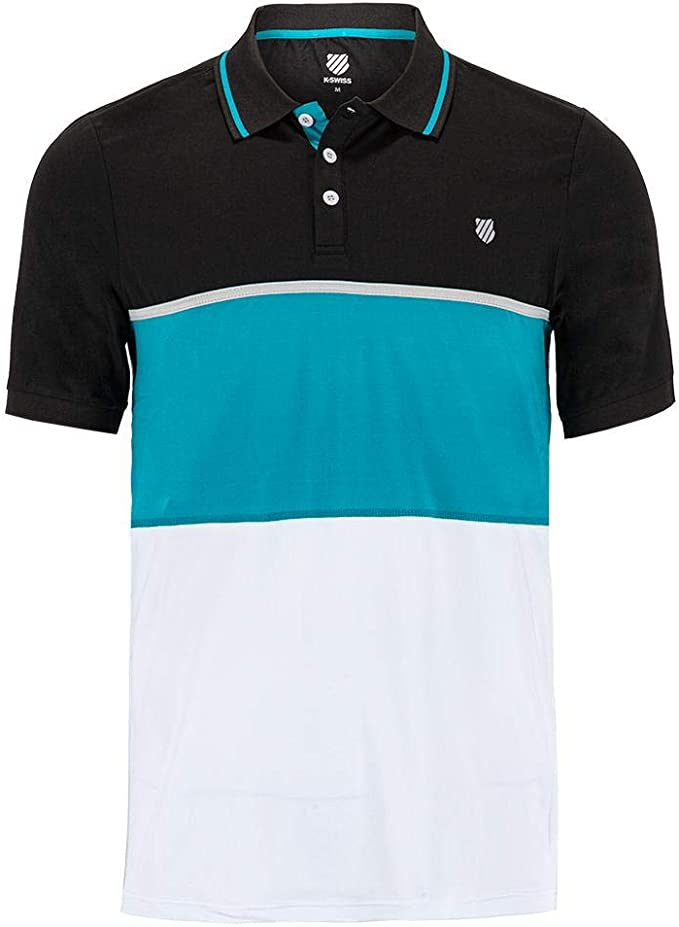 K-Swiss Men`s Hypercourt Express Tennis Polo White and Navy