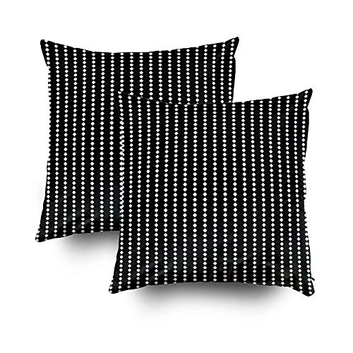 GROOTEY Joy Pillow Case, Square Pillow Covers with Zip Couch Sofa Décor Surface Pattern Stars Ornament Polygons Abstract Background Octagons Wallpaper Ethnic Mosaic 16X16 Set of 2 Throw Cushion