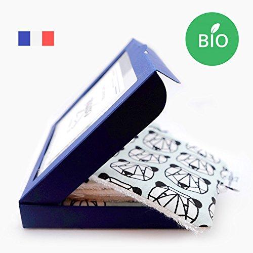 Coffret de 6 lingettes démaquillantes lavables BioL'Ours fait sa guimauve LePetitCarréFrançais