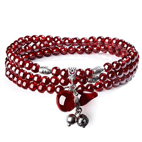 timebetter-ladys-bracelet-natural-garnet-three-laps-diameter40-42mmeach-bracelet-has-certificate-of-