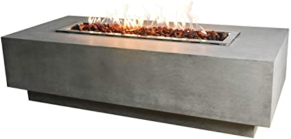 Amazon.com: Elementi Granville mesa de fuego de hormigón ...