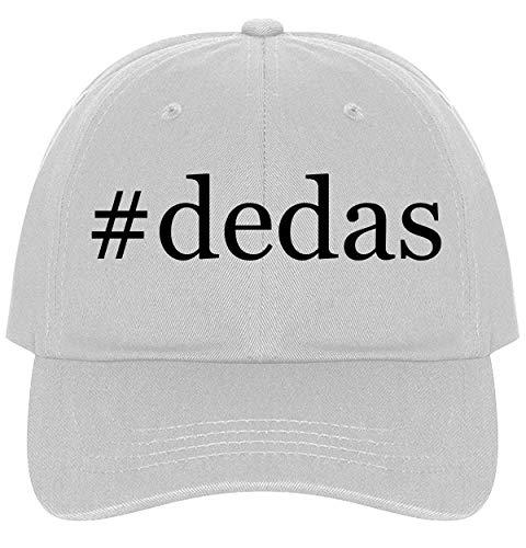 The Town Butler #Dedas - A Nice Comfortable Adjustable Hashtag Dad Hat Cap, White