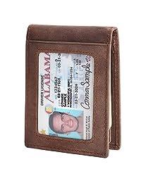 Mens Wallets with Money Clip, Front Pocket Wallets, RFID Blocking (Hunter Khaki-03)
